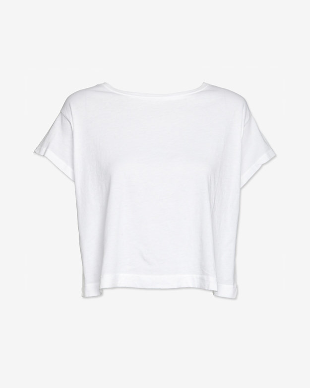 Stateside Cropped Tee: White