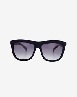 Italia Independent Velvet Flat Top Sunglasses: Navy