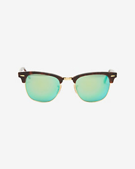 Ray-Ban Clubmaster Mirrored Metallic Sunglasses