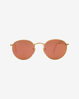 Ray-Ban Pink Mirrored Lense Round Sunglasses