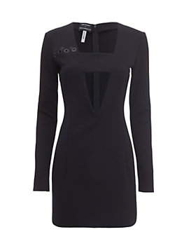 Anthony Vaccarello Grommet Cut Out Dress