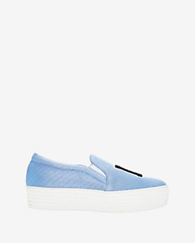 Joshua Sanders LA Striped Slip On Sneakers