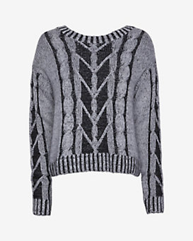 Christopher Fischer Zipper Back Plaited Cable Knit