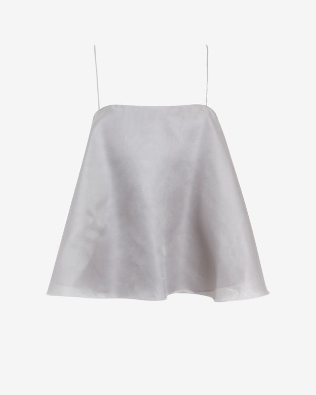 online-only      designers-remix-christi-spaghetti-strap-flare-top by designers-remix