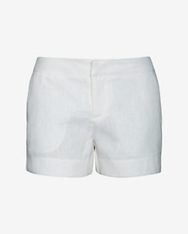 Joie Linen Shorts: White