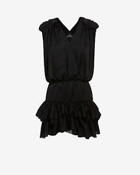 Designers Remix CHARLOTTE ESKILDSEN Tiered Ruffle Mini Dress