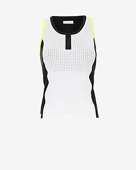 Monreal London Perforated Zip Tank: White