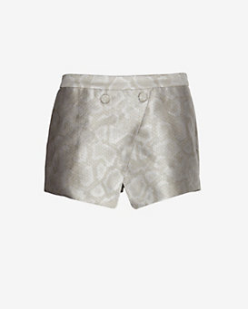 Jenni Kayne EXCLUSIVE Button Detail Snake Print Overlayer Skort