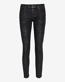 Current/Elliott Stiletto Highland Leopard Skinny