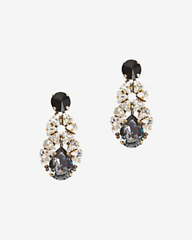 tataborello Crystal Cluster Drop Earrings
