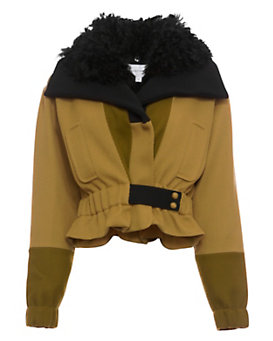 Carven Fur Collar Bomber Jacket