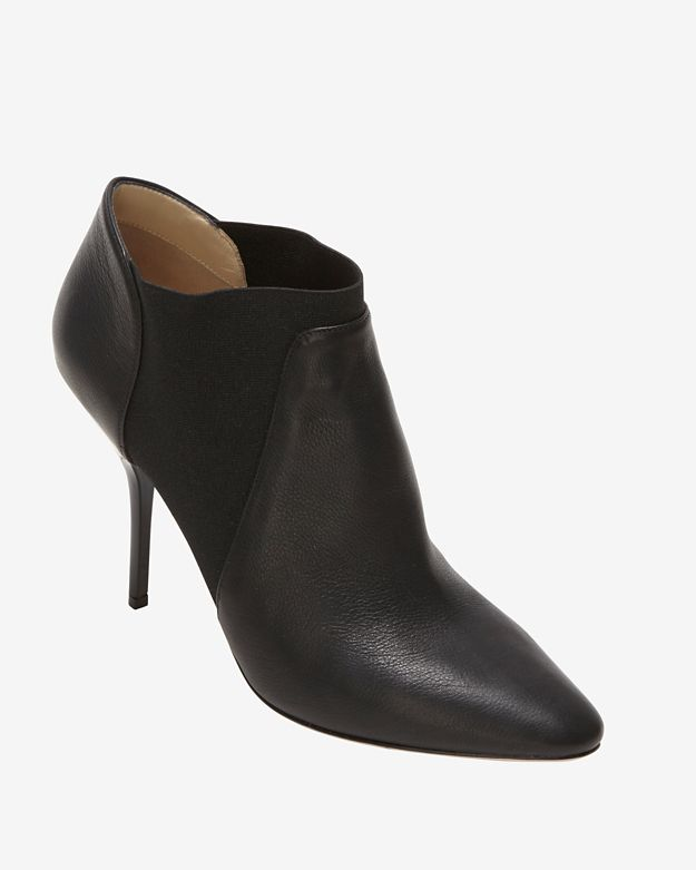 Jimmy Choo Slip On Leather Bootie: Black