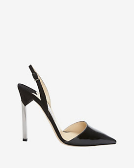 Jimmy Choo Metal Heel Pump: Black