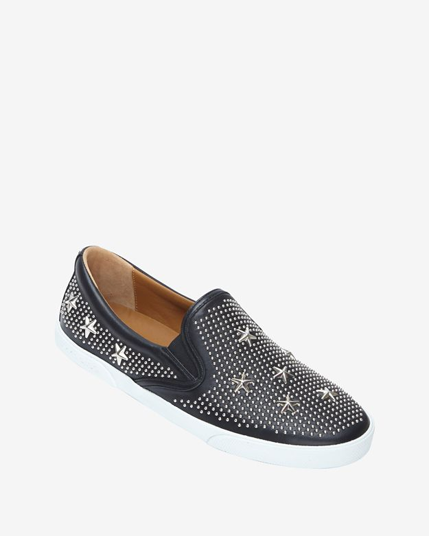 Jimmy Choo Star Studded Slip On Sneakers