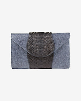 Khirma Eliazov Babo Watersnake/Stingray Clutch: Midnight