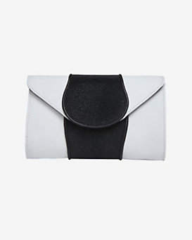 Khirma Eliazov Babo Lizard/Stingray Clutch: White