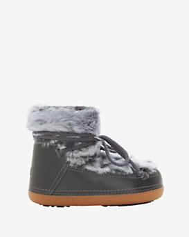 IKKII Leather and Fur Moon Bootie