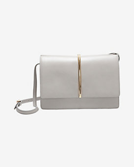 Nina Ricci Arc Hardware Crossbody Bag: Grey