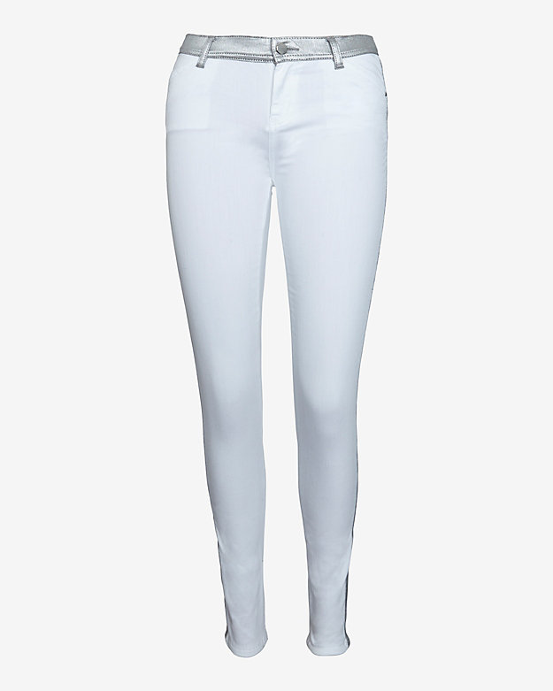 Faith Connexion Coated Detail White Skinny