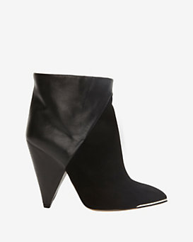 IRO EXCLUSIVE Keira Leather/Suede Booties: Black