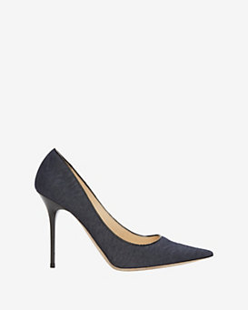 Jimmy Choo Abel Embossed Denim Pump