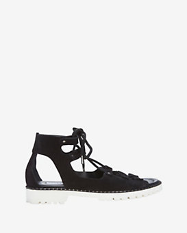 Jimmy Choo Tie Up Contrast Sole Sandal
