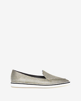 Nicholas Kirkwood Metallic Pointy Toe Lace Loafer