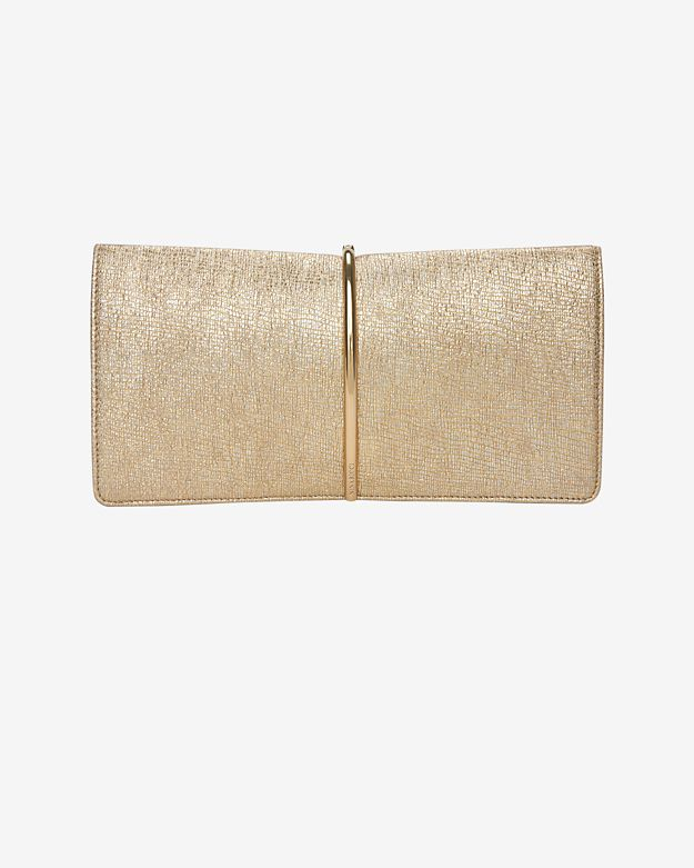 Nina Ricci Arc Hardware Clutch: Gold