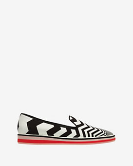 Nicholas Kirkwood Chevron Print Pointy Toe Loafer
