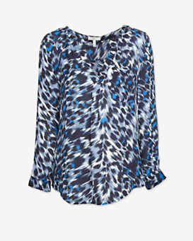 Joie Animal Print V Blouse