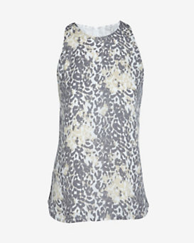 Joie Brighton Leopard Print Sleeveless Blouse