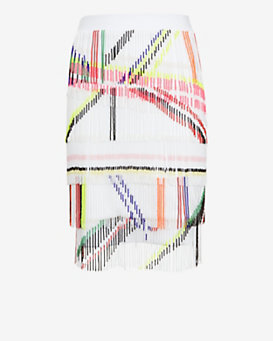 Preen by Thornton Bregazzi Beaded Fringe Skirt