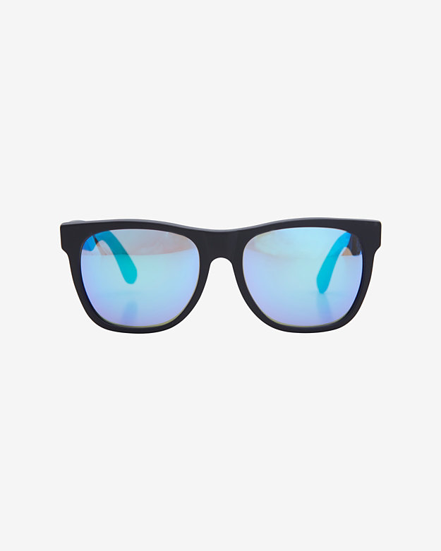 SUPER Sunglasses Mirrored Lense Wayfarer Sunglasses: Matte Black