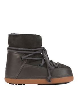 IKKII Classic Shearling Lined Moon Boot: Grey