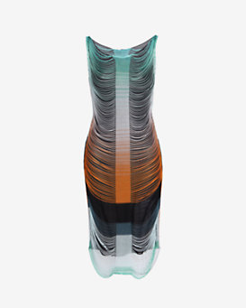 Missoni Volcano Slotted Fringe Dress