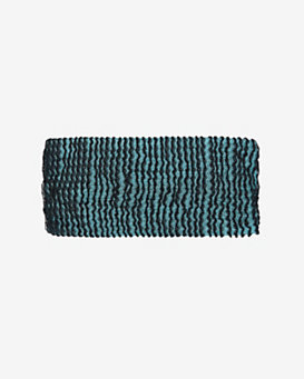 Missoni Stripe Knit Headband: Aqua/Black