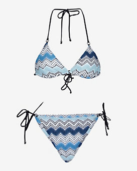 Missoni Mare Knit Triangle Bikini: Blue