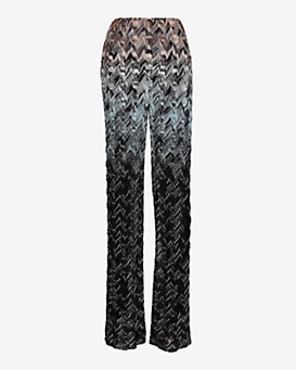 Missoni Knit Pattern Pant: Blue