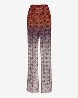 Missoni Knit Pattern Pant: Red