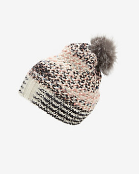 Missoni Fur Pom Knit Hat
