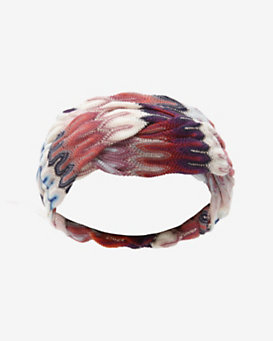 Missoni Braided Wool Headband: Red