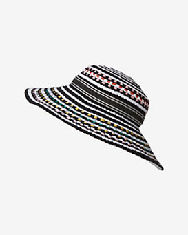 Missoni Mare Colored Dot Woven Wide Brim Hat