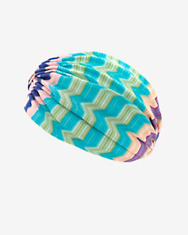 Missoni Mare Chevron Pattern Knit Turban: Blue/Green