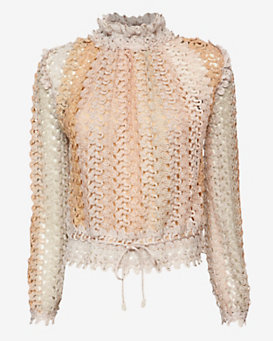 Missoni Lurex Fishnet Top: Nude