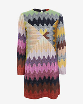 Missoni Long Sleeve Lurex Shift Dress