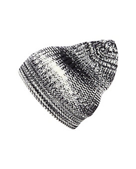 Missoni Space Dye Knit Beanie: Black/White