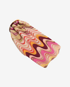 Missoni Zig Zag Knit Wide Headband: Pink