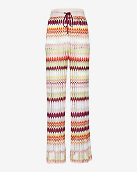 Missoni Mare Perforated Knit Print Pant