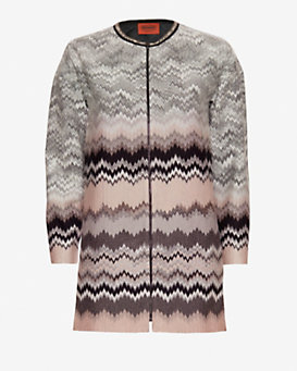 Missoni Pattern Knit Swing Coat