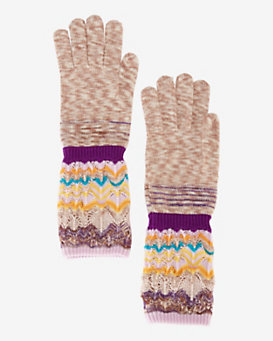 Missoni Zig Zag Knit Long Gloves
